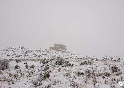 Nieve en el Castillo de Aunqueospese en Mironcillo (Ávila)