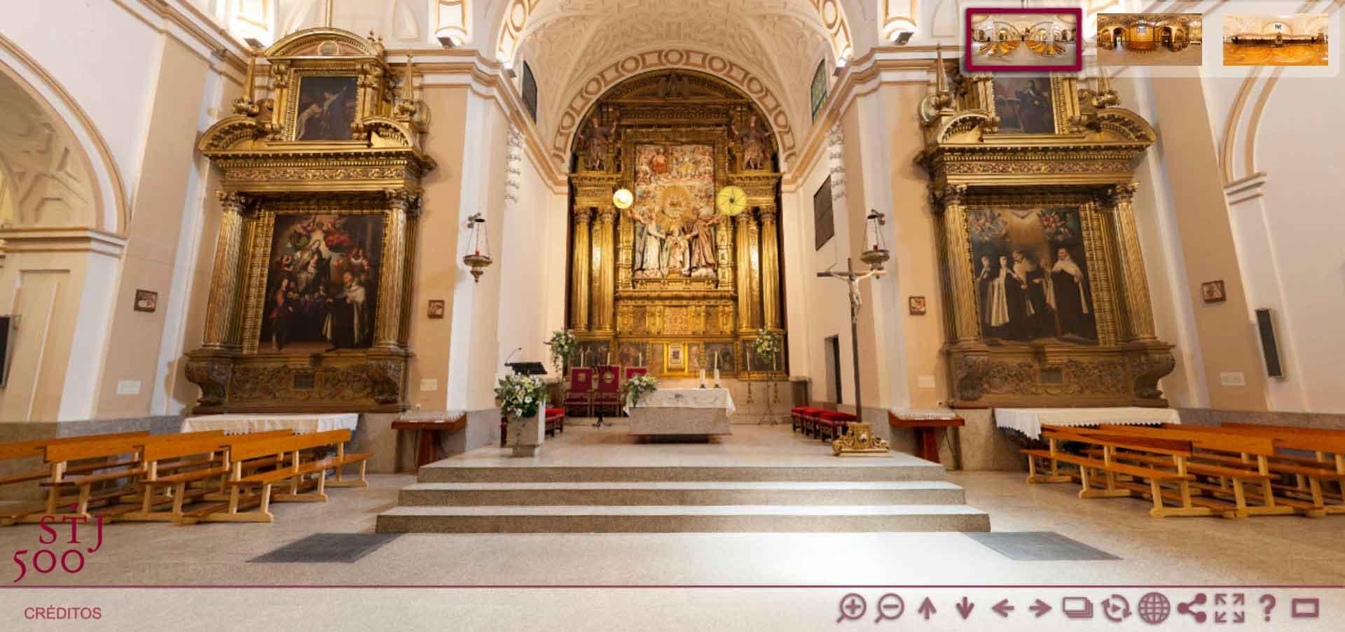 Visita virtual iglesia de Santa Teresa de Jesús en Ávila